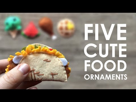 Let's Sew: FOOD ORNAMENTS