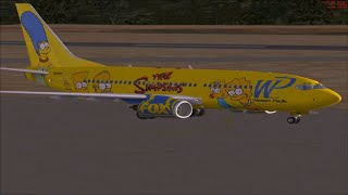 FSX HD - The Simpsons Plane  PMDG 737