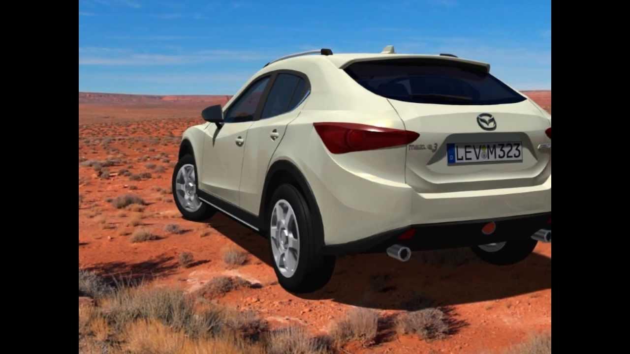 SUV of the base of the new 2014 Mazda3. Mazda CX-3. - YouTube