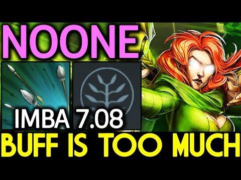 NOONE Dota 2 [Windranger] Buff is Too Much! New OP Midlane 7.08
