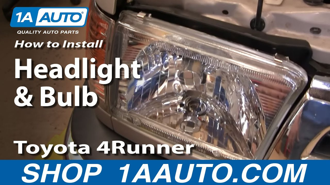 install replace headlight  bulb toyota runner