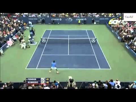 US Open 2013. Roger Federer vs Tommy Robredo