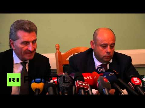 "Ukraine: ""Gas should not be an instrument of politics"" says Oettinger"
