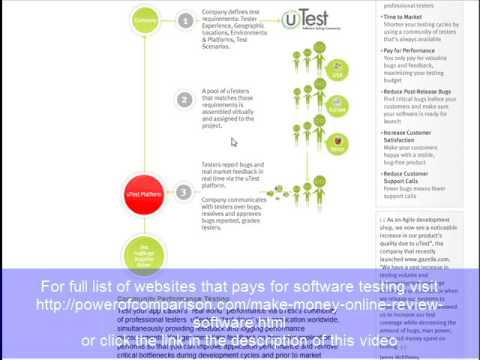 Review Test Software and get paid for software bugs. Google beta and Utest.