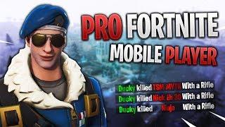 PRO FORTNITE MOBILE PLAYER // 310+ Wins // Fortnite Mobile Gameplay Tips & Tricks
