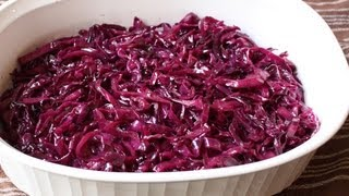 Braised Red Cabbage Recipe - Sweet & Sour Braised Red Cabbage Side Dish