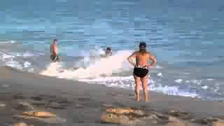 Dando a bunda na praia