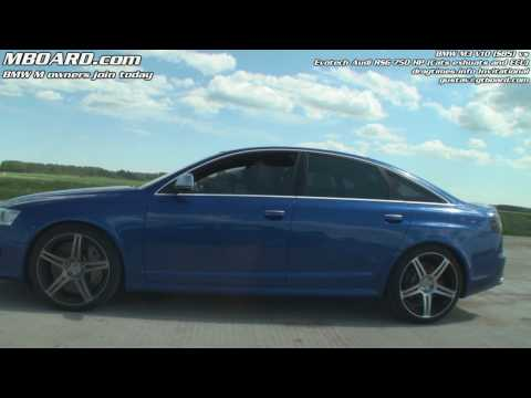 1080p: BMW M3 V10 vs Audi RS6 Sedan Evotech