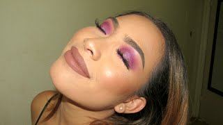 Bright Pink Purple Makeup Tutorial | Ft. Dolce K