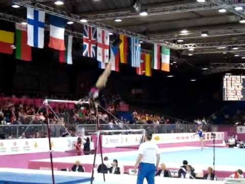 Diana BULIMAR ROU, Bars Senior Qualification, European Gymnastics Championships 2012