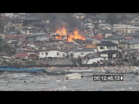 Otsuchi Japan Tsunami 2011 stock footage shot by an American