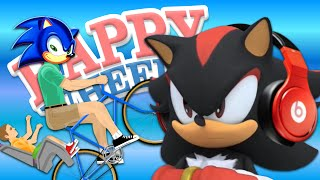 SHADOW Lets Play Happy Wheels Sonic Levels