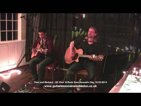 Greg X TV: 14 Year Theo and Richard Playing U2-One at Wimbledon School of Guitar Event