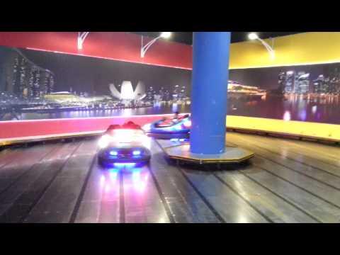 Playing bumper car at vivo city 2 at timezone!!
