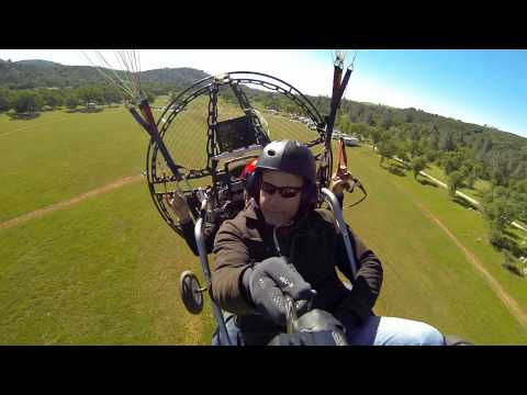 FIRST Tandem Powered Paragliding Flight With Fox News Reporter & BlackHawk Paramotor!