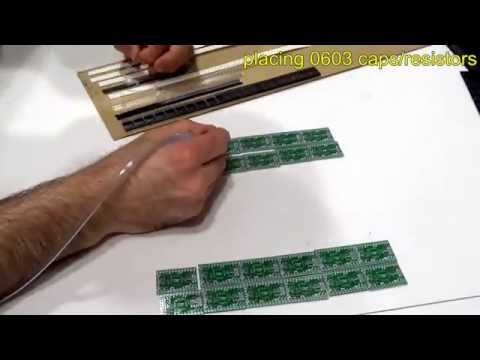 Manual SMT pick and place assembly time lapse (Moteino)