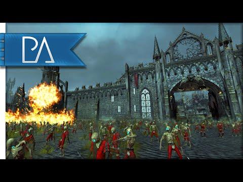 VAMPIRE SIEGE DEFENSE - Total War: WARHAMMER Gameplay