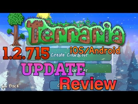 Terraria iOS/Android (1.2.715) UPDATE- NEW FEATURES REVIEW!