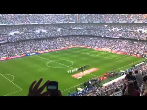 Entrada del Real Madrid al derby español