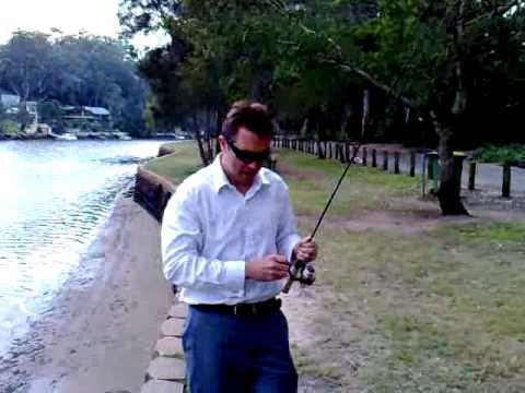 Adam Fishing on the Georges River