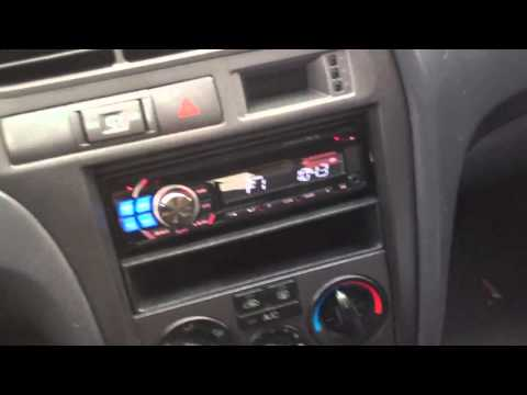 2001 Hyundai Elantra Alpine Electronics Dash Kit Radio Cde-121 IPOD cd