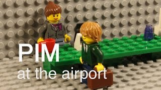 Lego Pim at the airport