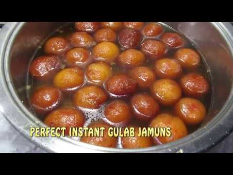 ಗುಲಾಬ್ ಜಾಮೂನ್ PERFECT INSTANT GULAB JAMUNS RECIPE IN KANNADA/JAMUNS USING READYMADE JAMOON MIX