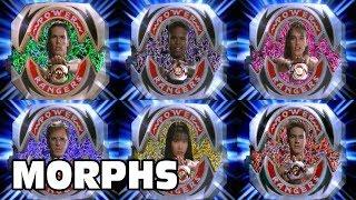 Mighty Morphin Power Rangers - All Ranger Morphs | Season 1 Episodes 1-60 | Morphin Time Superheroes