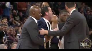kenny atkinson ejected - Nets vs Wolves 1/27/18