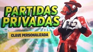 JUGANDO PARTIDAS PRIVADAS CON SUBS FORTNITE BATTLE ROYALE EN DIRECTO