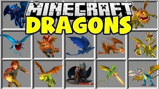 Minecraft HOW TO TRAIN YOUR DRAGON MOD | TOOTHLESS, SKRILL, NADDER, TERRIBLE TERROR & MORE!!