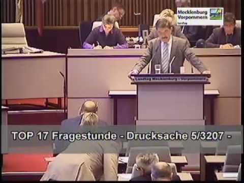 Fragestunde Im Landtag M-v Am 28.01.2010 (1) video