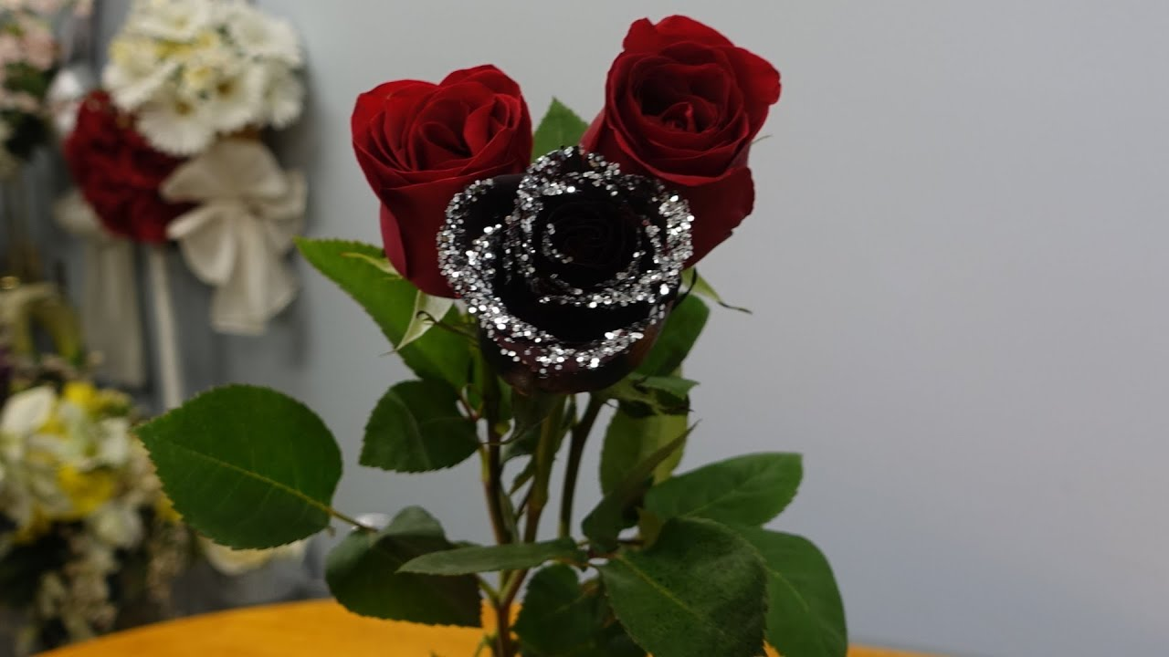 Как сделать розу чёрной 613