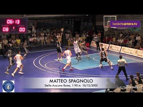 MATTEO SPAGNOLO (´03). Stella Azzurra Roma 1.90 m. Torneo U16 Orotava (BasketCantera.TV)
