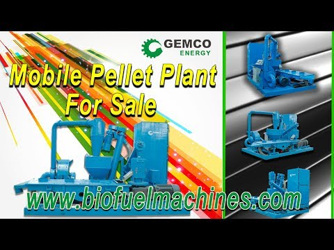 small mobile wood pellet plant