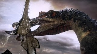 Spinosaurus Fishes For Prey Planet Dinosaur Bbc