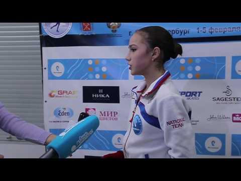 Алина Загитова, интервью после ПП. Первенство России 2017