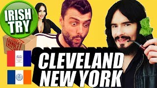 Irish People Try 'CLEVELAND' & 'BROOKLYN' Care Package!!
