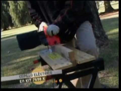 Herramientas para todos TV- Demo cepillo electrico en Kit 7698K Black and Decker