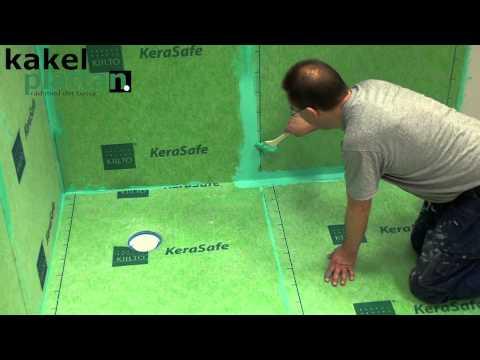 Innerhörnen och ytterhörnen tätskiktas med duklim. Se allt  på www.kakelplattan.se