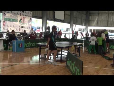 Daniel Perez(Yucatán) vs David Garrido(Pingpongmania) Final Copa Independencia 2014