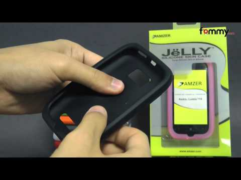 Amzer® Silicone Skin Jelly Case for Nokia Lumia 710 Review in HD
