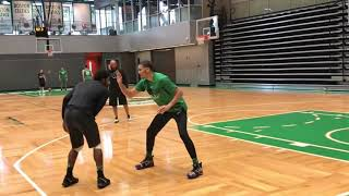 Kyrie Irving And Jayson Tatum Go At It Playing 1 on 1 at Celtics Practice FULL