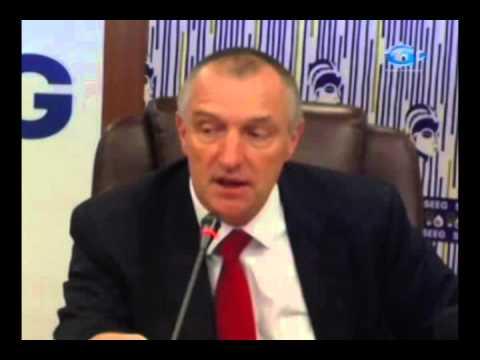 RTG \ Conference de presse animée par les responsable de la société d'eau, d'énergie du Gabon