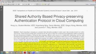 Shared Authority Based Privacy preserving Authentication Protocol in Cloud Computing