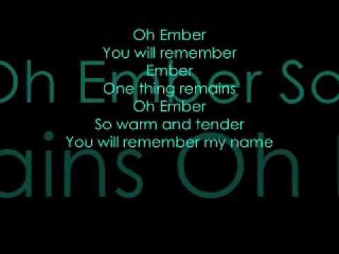 Remember- Ember Mclain lyrics video