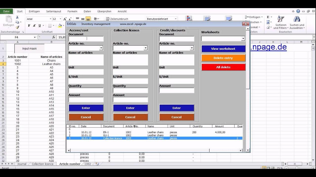 Commons Program Inventory Management Based On An Excel
