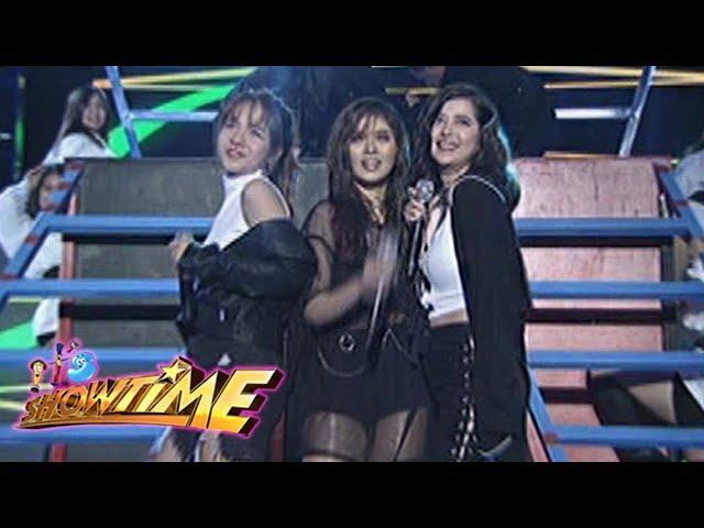 "It's Showtime: Sue, Kristel and Loisa perform ""Black Magic"""