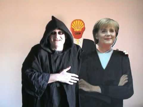 Angela Merkel and the European Round Table of Industrialists advisor, the Grim Reaper