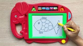 Đồ chơi trẻ em BẢNG THẦN KỲ GIÚP BÉ HỌC VẼ- Magic toys for Kids (Chim Xinh)